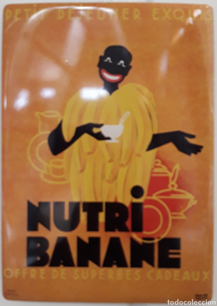 CARTEL DE METAL CEREALES NUTRI BANANE (Coleccionismo - Carteles y Chapas Esmaltadas y Litografiadas)