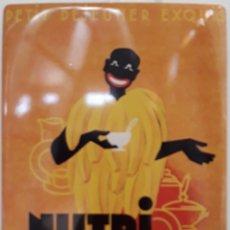 Carteles: CARTEL DE METAL CEREALES NUTRI BANANE. Lote 176673815