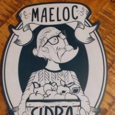 Carteles: MAELOC -CARTEL DE MADERA SISRA GALLEGA. Lote 176972418