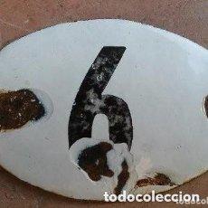 Carteles: ANTIGUA CHAPA ESMALTADA DE NICHO NUMERO 6. Lote 177690745