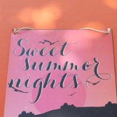 Carteles: CHAPA DULCES NOCHES DE VERANO SWEET SUMMER LIGHTS. CARTEL METÁLICO. Lote 177753775