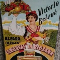 Carteles: PRECIOSO CARTEL ANTIGUO CONSERVAS LA RIOJA A.. Lote 177771725
