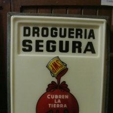 Carteles: ANTIGUO CARTEL LUMINOSO. DROGUERIA SEGURA. PINTURAS SHERWIN - WILLIAMS. Lote 178029580