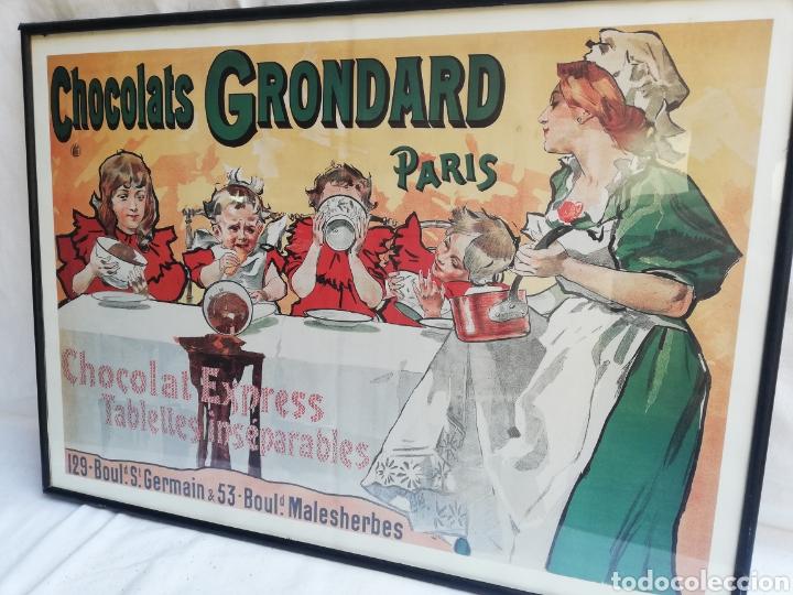 Carteles: GRAN CUADRO LAMINA CHOCOLATES GRONDARD. PARIS. CARTEL PUBLICITARIO.CON CRISTAL. UNICO EN TC. - Foto 2 - 178778983