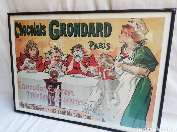 Carteles: GRAN CUADRO LAMINA CHOCOLATES GRONDARD. PARIS. CARTEL PUBLICITARIO.CON CRISTAL. UNICO EN TC. - Foto 5 - 178778983