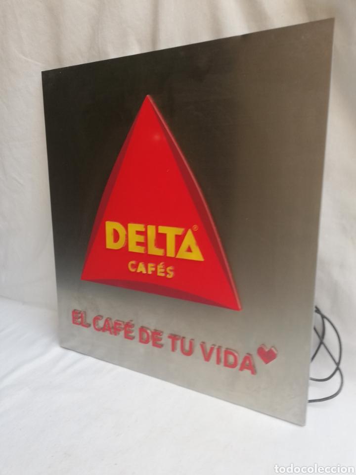 Carteles: CARTEL LETRERO PUBLICITARIO LUMINOSO. CAFÉS DELTA. FUNCIONA. UNICO EN TC. - Foto 3 - 178779218