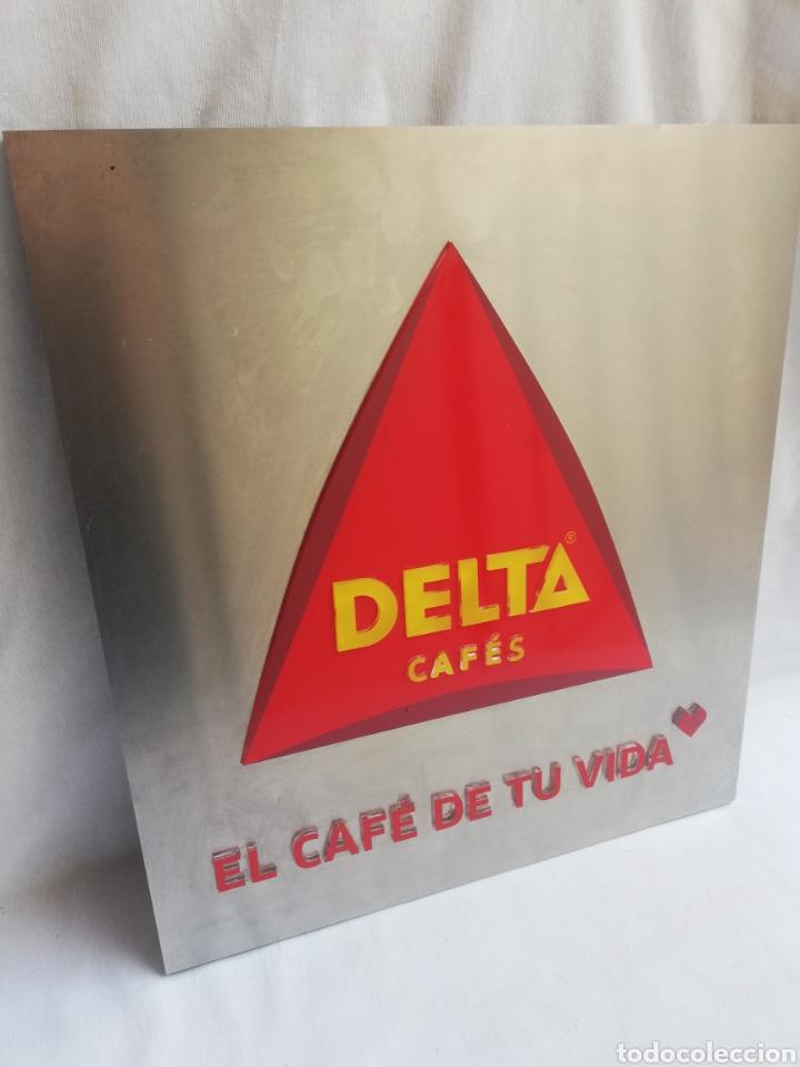 Carteles: CARTEL LETRERO PUBLICITARIO LUMINOSO. CAFÉS DELTA. FUNCIONA. UNICO EN TC. - Foto 4 - 178779218