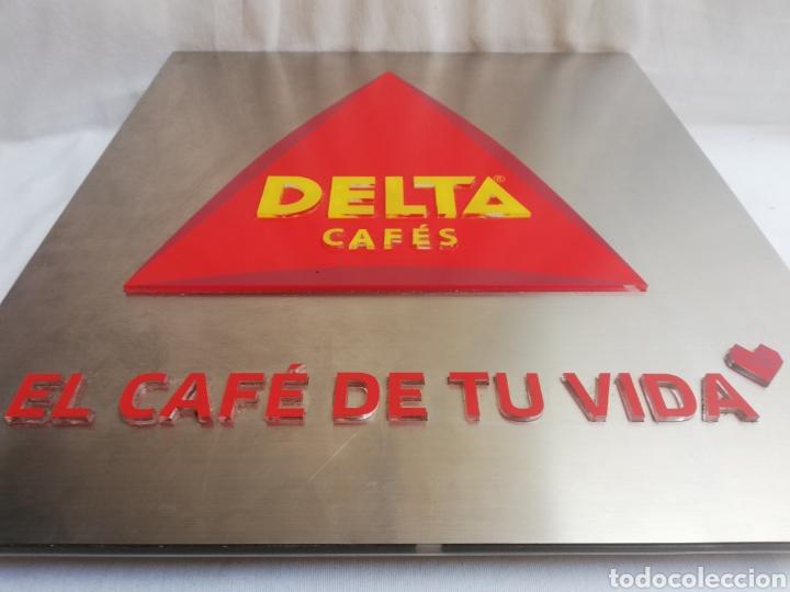 Carteles: CARTEL LETRERO PUBLICITARIO LUMINOSO. CAFÉS DELTA. FUNCIONA. UNICO EN TC. - Foto 6 - 178779218