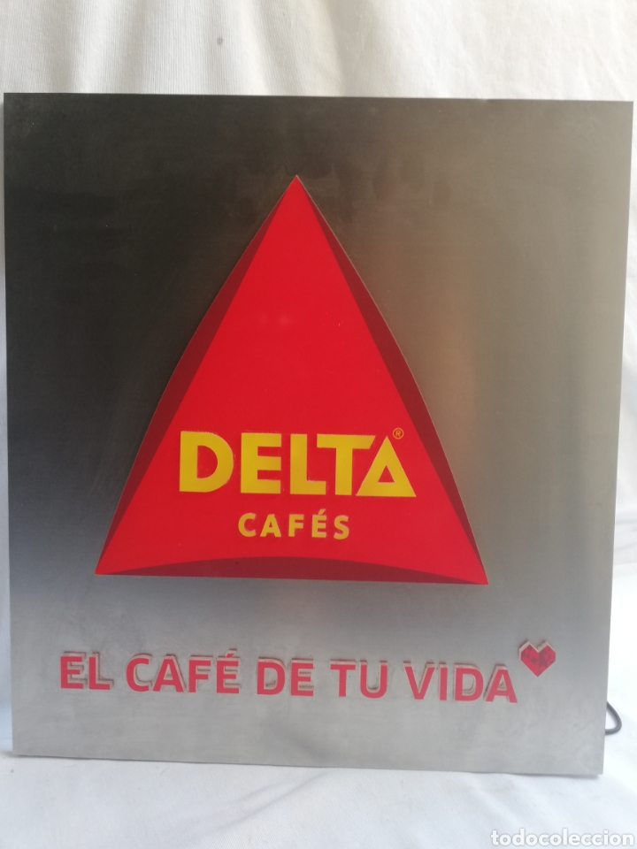 Carteles: CARTEL LETRERO PUBLICITARIO LUMINOSO. CAFÉS DELTA. FUNCIONA. UNICO EN TC. - Foto 11 - 178779218