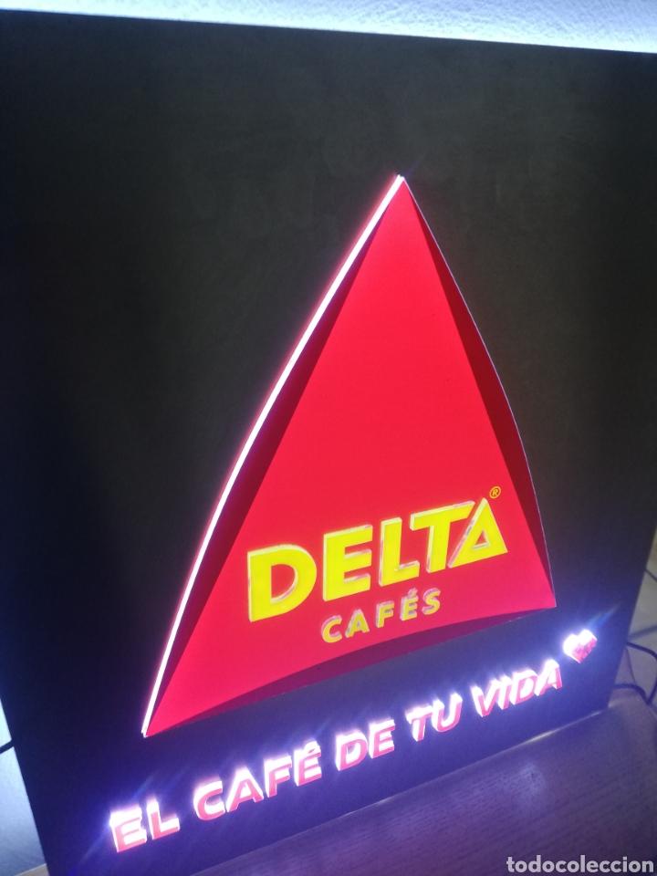 Carteles: CARTEL LETRERO PUBLICITARIO LUMINOSO. CAFÉS DELTA. FUNCIONA. UNICO EN TC. - Foto 12 - 178779218