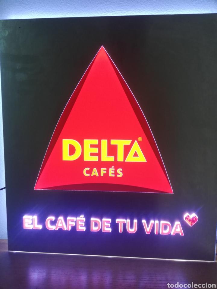 Carteles: CARTEL LETRERO PUBLICITARIO LUMINOSO. CAFÉS DELTA. FUNCIONA. UNICO EN TC. - Foto 13 - 178779218