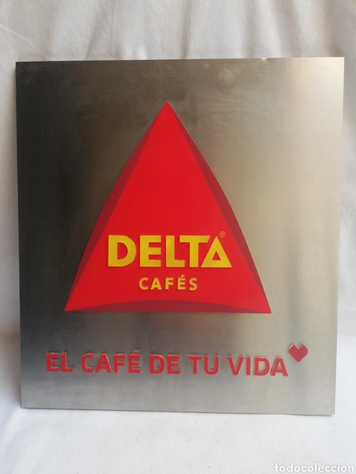 Carteles: CARTEL LETRERO PUBLICITARIO LUMINOSO. CAFÉS DELTA. FUNCIONA. UNICO EN TC. - Foto 2 - 178779218
