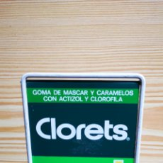 Carteles: EXPOSITOR CLORETS CHICLES. Lote 178962740