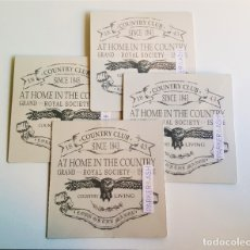 Carteles: 4 CARTELES DE CHAPA METALICOS NUEVOS - 20X20.CM. Lote 179129031