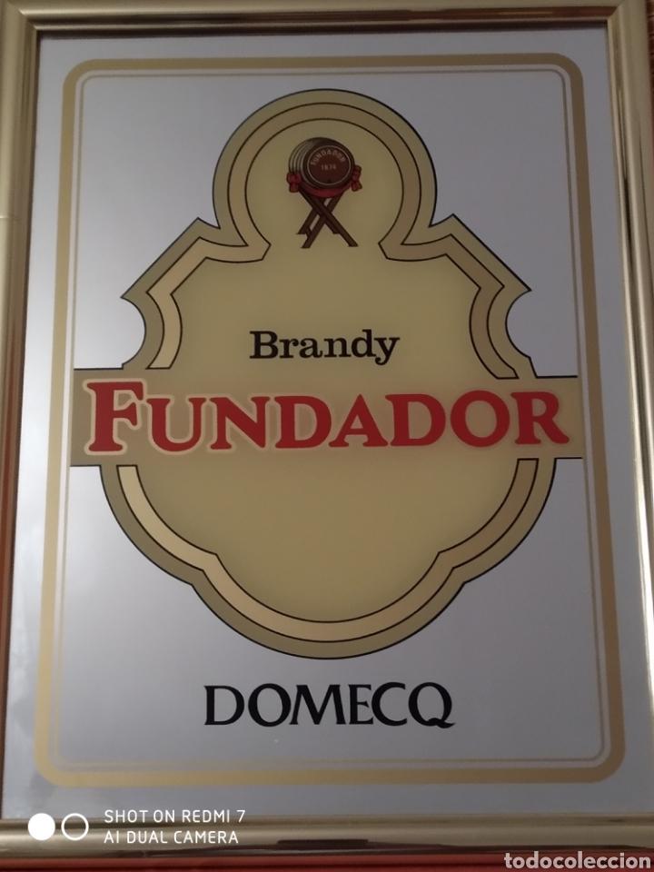 CARTEL ESPEJO BRANDY FUNDADOR DOMECG 43X33 CM (Coleccionismo - Carteles y Chapas Esmaltadas y Litografiadas)