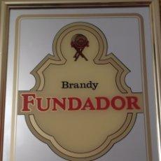 Carteles: CARTEL ESPEJO BRANDY FUNDADOR DOMECG 43X33 CM. Lote 179206727