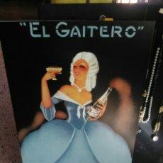Carteles: PRECIOSO CARTEL ANTIGUO.EL GAITERO.SIDRA. Lote 179956893
