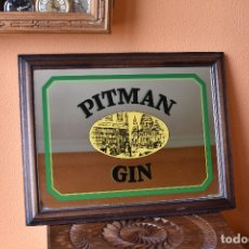 Carteles: ESPEJO DE 45 X 35 CM DE PITMAN GIN. Lote 180079002