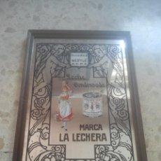 Carteles: LECHE CONDENSADA - MARCA LA LECHERA - SOCIEDAD NESTLÉ - PRECIOSO ESPEJO PUBLICITARIO ANTIGUO. Lote 180347238