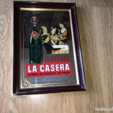 Carteles: CUADRO ESPEJO LITOGRAFIADO GASEOSA LA CASERA. Lote 181395763