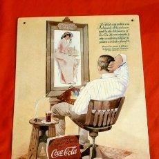 Carteles: PUBLICIDAD COCA-COLA - PLACA CHAPA METALICA 20X30 CM (NUEVA) REPRODUCCION METAL - COCACOLA USA. Lote 181421186