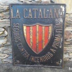 Carteles: PLACA SEGUROS LA CATALANA. Lote 181437283