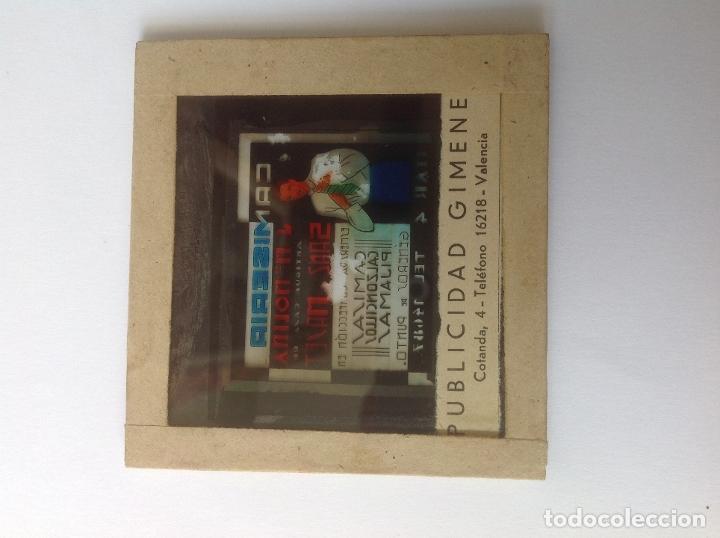 Carteles: ANTIGUA DIAPOSITIVA DE CRISTAL PUBLICIDAD VALENCIA , CAMISERIA MOLINA -AÑOS 40 - Foto 3 - 182115820