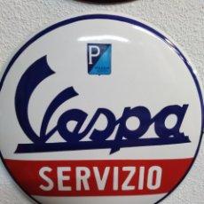 Carteles: CHAPA HIERRO ESMALTADA GRANDE VESPA. Lote 184035731