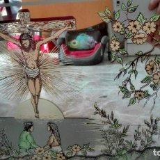 Carteles: CUADRO ESPEJO CON MOTIVOS RELIGIOSOS. Lote 184160502