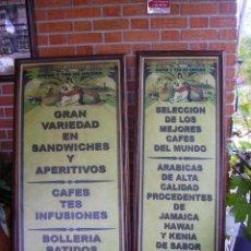 Carteles: ANTIGUA PAREJA DE CARTELES PUBLICITARIOS ART NOUVEAU. CAFÉ COLONIAL. VERSALLES COFFEE SHOP. Lote 184333687