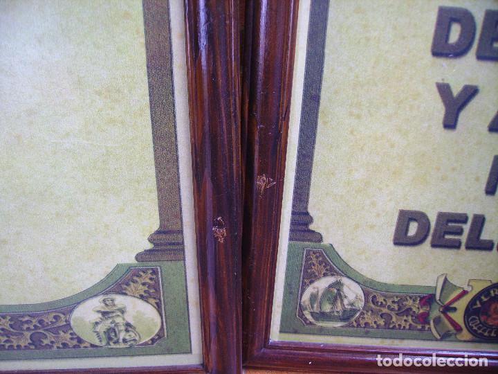 Carteles: Antigua Pareja de Carteles Publicitarios Art Nouveau. Café Colonial. Versalles Coffee Shop - Foto 7 - 184333687