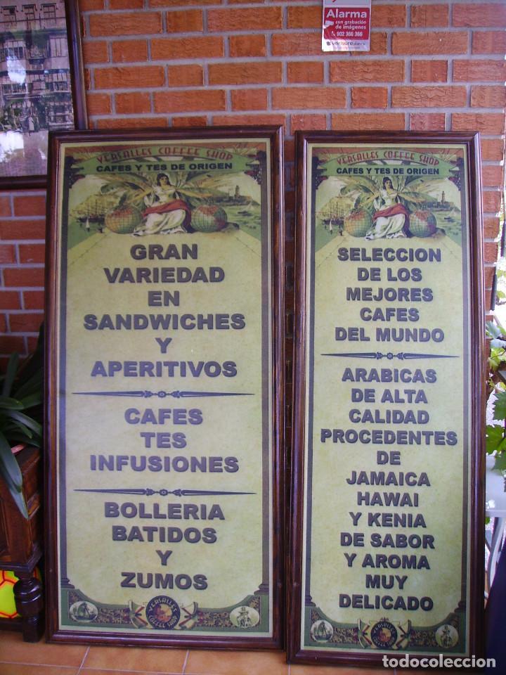 Carteles: Antigua Pareja de Carteles Publicitarios Art Nouveau. Café Colonial. Versalles Coffee Shop - Foto 16 - 184333687