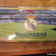 Carteles: CARTEL EN CHAPA DEL REAL MADRID C.F. . Lote 184409373