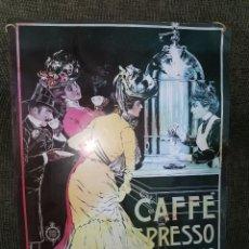 Carteles: PRECIOSO CARTEL METÁLICO. CAFÉ EXPRESSO. AÑOS 70. Lote 184482247