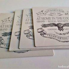 Carteles: LOTE 4 CARTELES DE CHAPA METALICOS NUEVOS - 20X20.CM. Lote 184888053