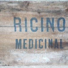 Carteles: CARTEL MADERA RICINO MEDICINAL ZXY. Lote 186420053