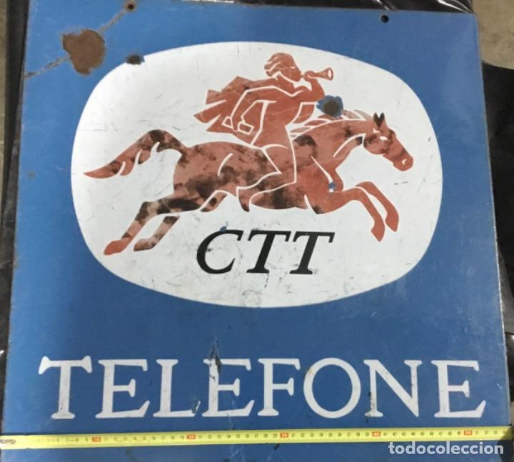 Carteles: Antiguo cartel o placa esmaltada TELEFONE, compañía telefónica Portugal - Foto 3 - 189331646