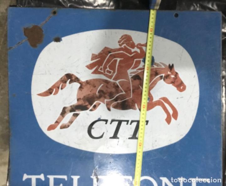 Carteles: Antiguo cartel o placa esmaltada TELEFONE, compañía telefónica Portugal - Foto 5 - 189331646
