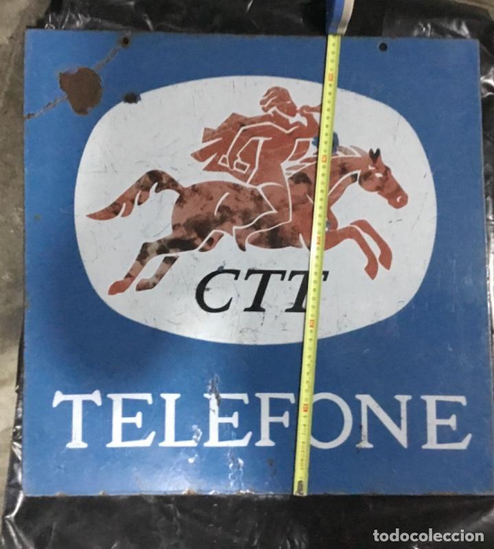 Carteles: Antiguo cartel o placa esmaltada TELEFONE, compañía telefónica Portugal - Foto 6 - 189331646