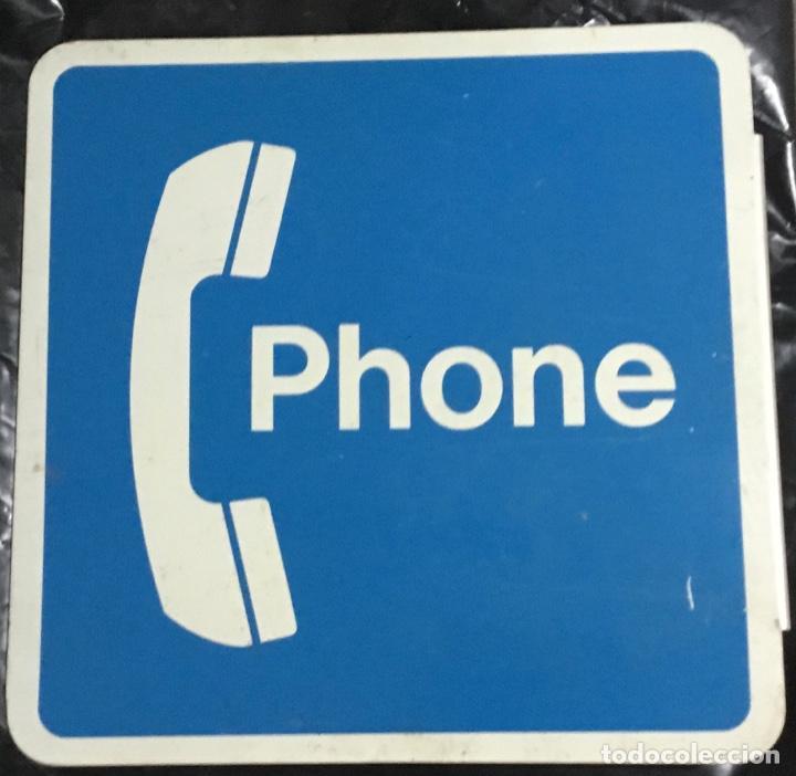 Carteles: Antiguo cartel telefónico esmaltado americano, PHONE, a doble cara - Foto 8 - 189332127