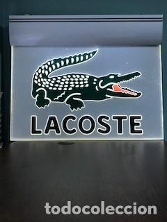 Carteles: Cartel luminoso publicidad LACOSTE original vintage - Foto 2 - 189353201
