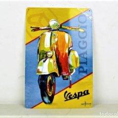 Carteles: CHAPA VESPA REPRODUCCIÓN. Lote 189469560