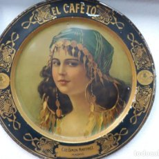 Carteles: CHAPA LITOGRAFIADA EL CAFETO.. Lote 189688147