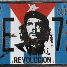 Carteles: CARTEL PLACA DE METAL CHE GUEVARA REVOLUCION. Lote 189810228