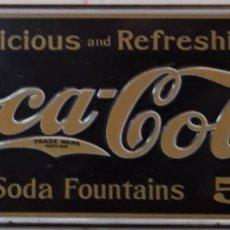 Carteles: CARTEL PLACA DE METAL COCA-COLA. Lote 189810718