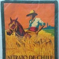 Carteles: CHAPA CARTEL NITRATO DE CHILE. Lote 190558182