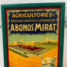 Carteles: CHAPA PUBLICITARIA ABONOS MIRAT SALAMANCA AÑOS 20 PRAGER&LOSDA BERLIN. Lote 191151448