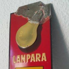 Carteles: LÁMPARA Z CARTEL PLACA ESMALTADA. Lote 191572662
