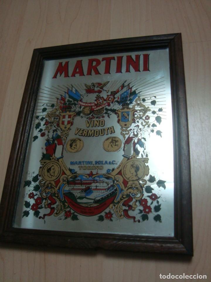 ESPEJO MARTINI (Coleccionismo - Carteles y Chapas Esmaltadas y Litografiadas)