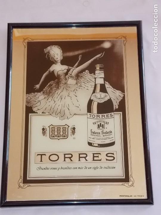 ESPEJO PUBLICIDAD VINTAGE BRANDY TORRES AÑOS 80 (Coleccionismo - Carteles y Chapas Esmaltadas y Litografiadas)